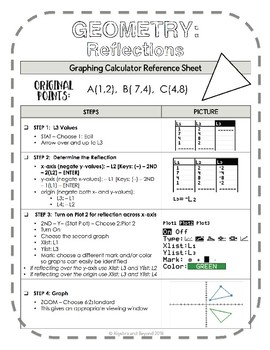Geometry Transformations: Reflect, Translate, and Dilate (Graphing Calculator)