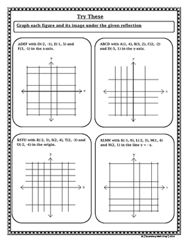 Transformations - Geometry Transformations Reflections Notes and Assignment