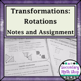 Transformations - Geometry Transformations Rotations Notes and Assignment