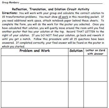 Transformation Scavenger Hunt Activity - Great unit or STAAR Review