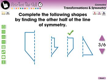 Geometry: Transformations & Symmetry - Practice the Skill 3 - MAC Gr. PK-2