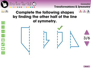Geometry: Transformations & Symmetry - Practice the Skill 3 - NOTEBOOK Gr. PK-2