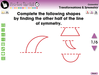 Geometry: Transformations & Symmetry - Practice the Skill 3 - PC Gr. PK-2