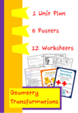 Geometry - Transformations - Unit plan, posters and  works