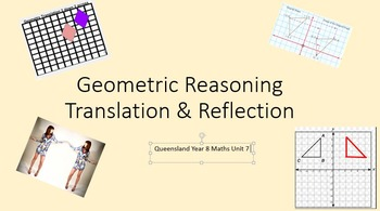 Geometry - Translation & Reflection PowerPoint & Worksheets