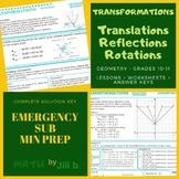 Geometry Translation Rotation Reflection Lesson + Workshee