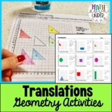 Geometry Translations Activities - Cut and Paste + Practice!