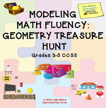 MODELING MATH FLUENCY:  Geometry Treasure Hunt