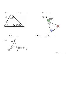 Geometry Triangle Congruence QUIZ