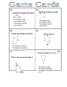 Geometry Triangle Game