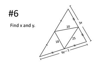 "Geometry: Triangle Midsegment ""Work the Room"" Activity"