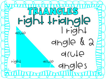 Geometry: Triangle Posters!