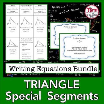 Triangle Special Segments Equations