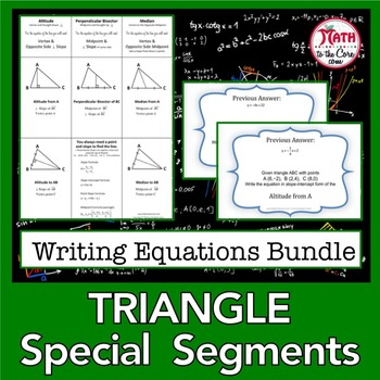 Triangle Special Segments Equations