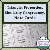 Congruent Triangles - Geometry Triangles Congruency Similarity Note Cards