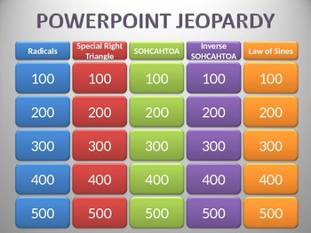 Geometry Triangles Jeopardy Review