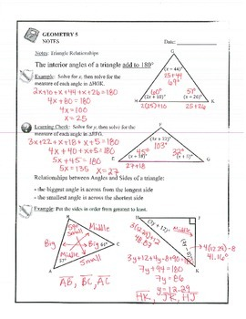 Geometry - Triangles: Triangle Inequality, Order by Sides, Order by Angles