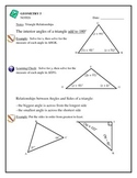 Geometry - Triangles: Triangle Inequality, Order by Sides,