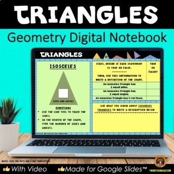 Geometry Triangles for Google Drive® Interactive Digital Notebook