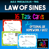 Trigonometry Law of Sines Task Cards with QR