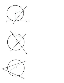 Tangent And Secant Of Circles Worksheets & Teaching Resources | TpT