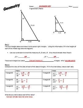 Geometry Trigonometric Discovery Lesson