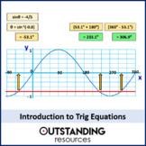 Geometry: Trigonometry 11 - Trig Equations Introduction (+ worksheet)