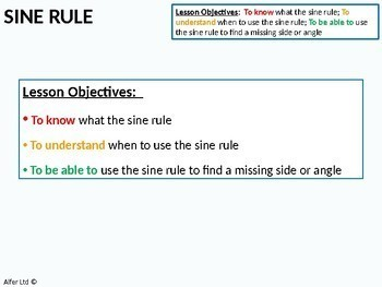 Geometry: Trigonometry 4 - Sine Rule (+ Worksheet)