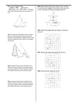 Geometry & Trigonometry Assignment