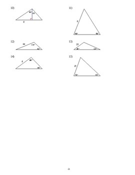 Geometry - Trigonometry - Homework Pack