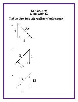 Geometry Trigonometry Stations Review