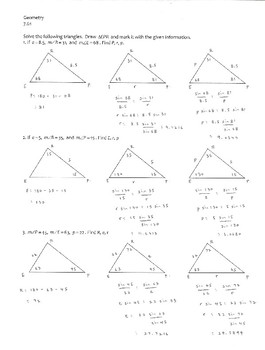 Geometry, Trigonometry -- The Law of Sines -- ASA and AAS cases only