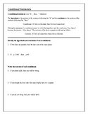 Geometry Tutorial & Worksheets: Conditional Statements