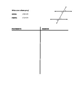 Geometry - Two Column Proof Writing for Segments & Angles #3 (chapter 2)