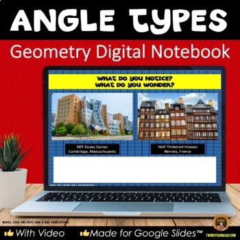 Geometry Types of Angles for Google Drive® Interactive Digital Notebook