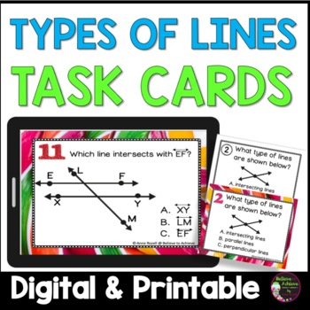 Types of Lines Task Cards
