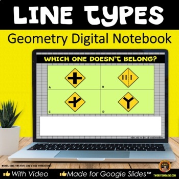 Geometry Types of Lines for Google Drive® Interactive Digital Notebook
