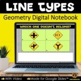Types of Lines for Google Slides® Geometry Digital Notebook