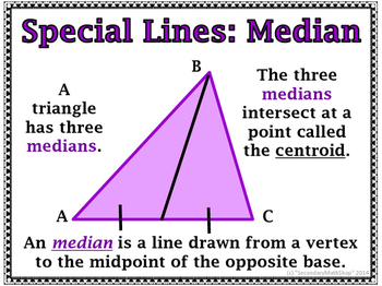 Triangles - Classification, Special Lines, Angles, Formulas Wall Cards