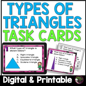 Geometry- Types of Triangles Task Cards