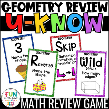 Geometry Game for Math Centers & Stations {2D & 3D Shapes, Translations, & MORE}