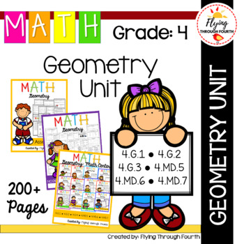 Geometry UNIT Fourth Grade Math 4.G.1, 4.G.2, 4.G.3,  4.MD.5, 4.MD.6, 4.MD.7