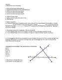 Geometry -- Undefined terms, Postulates