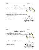 Geometry: Unit 1: 1.5 Homework Quiz