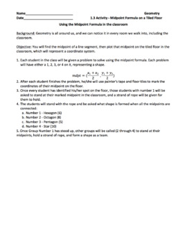 Geometry Unit 1.3 Activity: Midpoints in the Classroom (1 day)