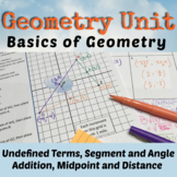 Undefined Terms, Segment Addition, Distance and Midpoint U