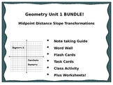 Geometry Unit 1 BUNDLE - Midpoint Distance Slope Transformations