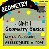 Geometry Basics: Introducing Points, Lines, Planes, Angles (Geometry - Unit 1)