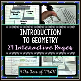 Introduction to Geometry Interactive Notebook Pages (24pgs)