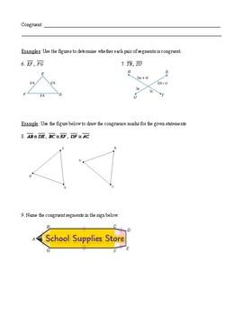 Geometry - Unit 1 - Tools of Geometry